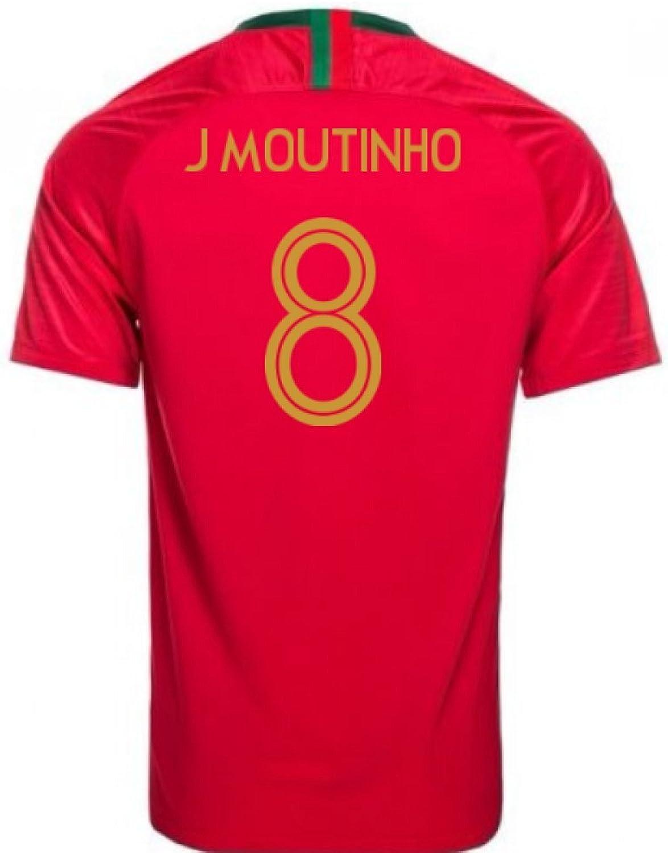 2018-2019 Portugal Home Nike Football Shirt (J Moutinho 8) - Kids