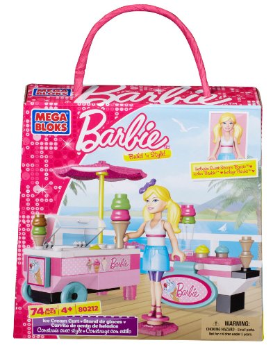 Mega Bloks Barbie Build N Style wózek do lodów