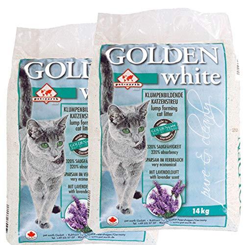 2x14= 28 kg GOLDEN GREY WHITE KATZEN STREU LAVENDELDUFT KLUMP STREU KANADA