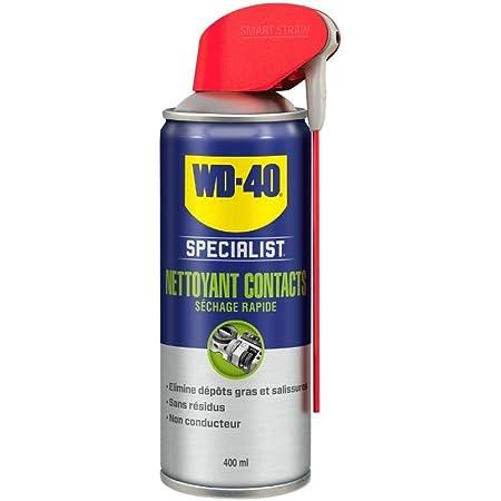 WD-40 Specialist • Nettoyant Contact • Spray Double Position • Elimine huile, dépôts gras, poussière, saleté, résidus de flux et condensation • Séchage Rapide • Non conducteur • 400 ML