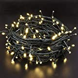 240 LEDs 95FT Halloween Decorations Lights, Upgraded Super Bright Mini Christmas Lights Indoor/Outdoor, 8 Modes Green Wire Twinkle Lights for Festival Decorations Wedding Garden (Warm White)
