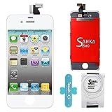 SANKA Ecran LCD Vitre Tactile Pour iPhone 4, Remplacement Retina Display Complet avec...