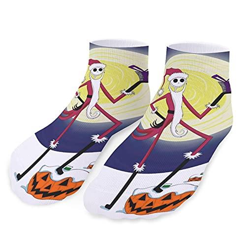 Pesadilla antes de la Navidad calcetines deportivos cortos casuales para hombres y mujeres elásticos transpirables y cómodos calcetines personalizados lindos y divertidos