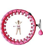 Hoelahoep, hoelahoep, voor volwassenen, hoelahoep met massagenoppen en 24 afneembare onderdelen, hoelahoep voor beginners, fitness, onderdelen, ideaal voor afslanken training