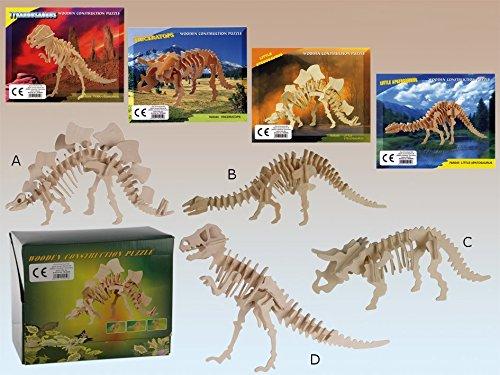 Puzzle en bois 3D Squelette de dinosaure - modèle : D (Tyrannosaure)