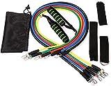 MTCWD Bandas de Resistencia Tirar de la Cuerda de la Aptitud Banda de Entrenamiento físico Set de 11 Piezas