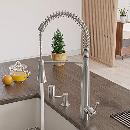 Alfi brand ab2039s solid stainless steel commercial spring kitchen faucet