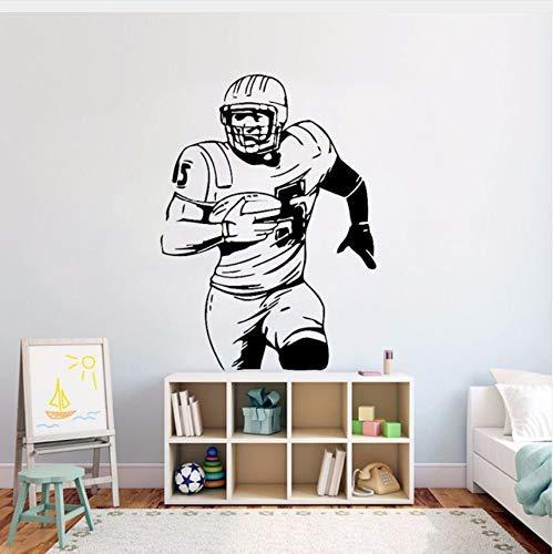 American Football Wand Vinyl Aufkleber Ball Sport Aktivität Wandtattoo Kinderzimmer Dekor Abnehmbare Fußballspieler Wandbild 57X78Cm
