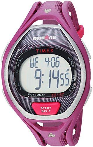Timex Reloj Unisex TW5M17700 Ironman Sleek 50, tamaño Completo, Color Magenta/Negro