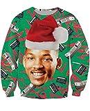 KSJK Unisex Funny Men Ugly Christmas Sweater Jumper ,XL,KMAX011,XLarge