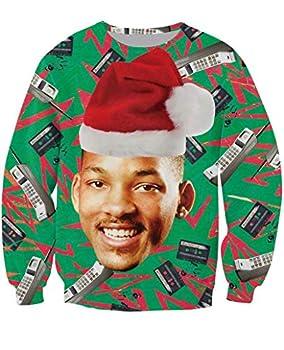 KSJK Unisex Funny Men Ugly Christmas Sweater Jumper ,Medium,KMAX011,Medium