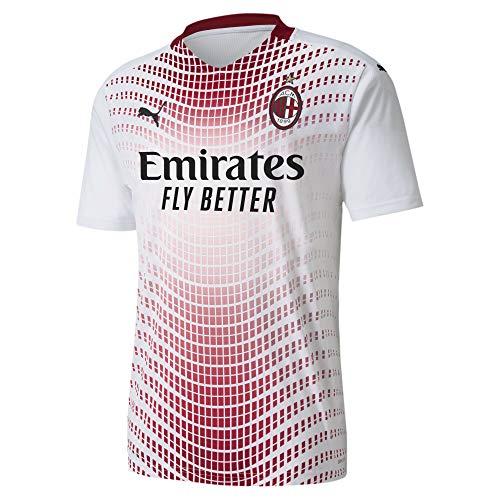 Puma AC Milan Temporada 2020/21-Away Shirt Replica Camiseta Segunda Equipación, Unisex, White/Tango...