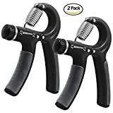 DLAND Hand Grip Strengthener 2 Pack Fitness Pinch Meter Adjustable Resistance 22-88 Lbs Arm Hand Gripper Exerciser-Non-slip