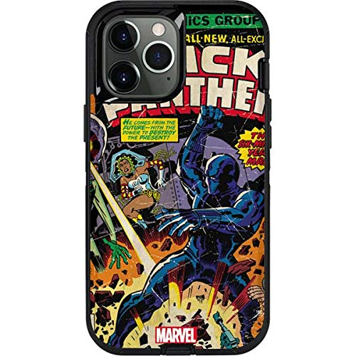 Skinit Decal Phone Skin Compatible with OtterBox Defender Case for iPhone 12 Pro Max - Officially Licensed Marvel Black Panther vs Six Million Year Man Design
