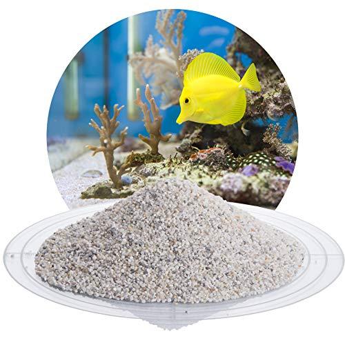 Schicker Mineral Aquariumsand Aquariumkies weiß im 25 kg Sack, kantengerundet, gewaschen, ungefärbt (1,0-2,0 mm)