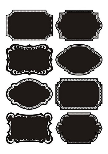 DUOFIRE Chalkboard Labels Chalkboard Stickers 72pcs Waterproof Reusable Jars Labels Canisters Labels with Gifts:Chalk Markers x2,Microfiber Clothes x2,Nano Sponge x2,for Labeling Jars,Craft Rooms