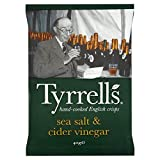 Tyrrells Sea Salt & Cider Vinegar Potato Crisps 40g - Pack of 6