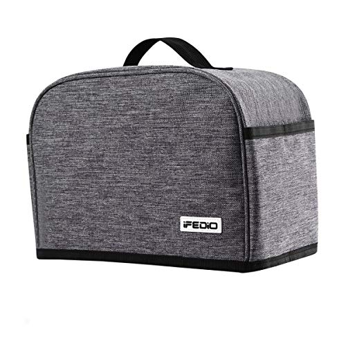 Toaster 2 Slice Cover with Pockets, Dust Protection/Stain Resistant/Washable/Appliance Bread Toaster Machine Cover