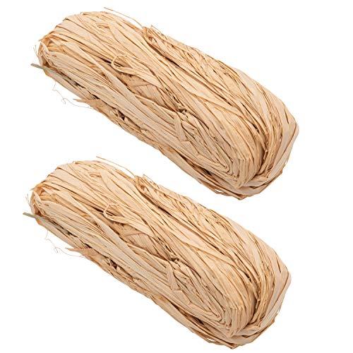 100g Raffia Bast Natur lange Fasern Naturbast Bindebast Florbast zum Basteln Dekoration oder Blumenstrauß zum Weben für Floristen im Garten zum Binden und Sichern von Pflanzen