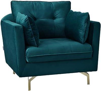 Danube Home Prague Fabric 1 Seater Sofa (97 X 86 X 90 cm, Deep Blue)