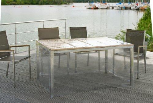 Eigbrecht 142201 Klarsicht Abdeckhaube Schutzhülle mit Abhang für Tischplatten 200x100x70cm