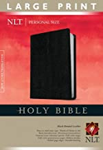 Holy Bible NLT, Personal Size Large Print edition (Red Letter, Bonded Leather, Black)