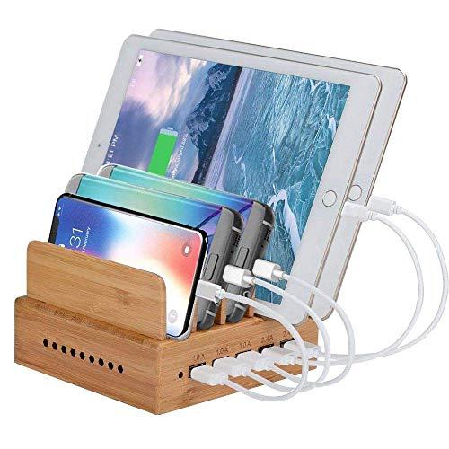 Mettime Estación de Carga inalámbrica, estación de Carga USB, 5 Puertos, 6 A, 30 W, estación de Carga para Smartphones, Tablets