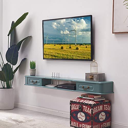 Étagère Moderne murale étagère flottante TV plateau TV TV par console Supports étagère murale Media Console Hanging TV Stand for Bureau Mobilier de salon for lecteur DVD routeur WiFi TV Box Set Top Bo