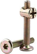10 stycken M6 kolstål sexkantskruvar möbelskruvar spjälsäng med cylindermuttrar dowel mutter anslutningselement ÅTERANVÄND...