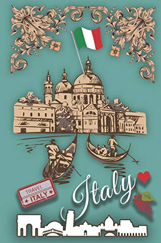 Italy: Notebook Journal Travel Diary Venice Softcover 6x9 Blank Line Wide Ruled 130 Pages [Lingua Inglese]