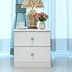 Bedside Tables LI Jing Shop - Muebles de Madera Maciza Mesillas de Noche Dormitorio Moderno de la Simplicidad Almacenaje Gabinete del ángulo