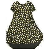 Lularoe Carly X-Small XS Elegant Collection Gold Embossed Polka dot Gray Dark Gray Swing Dress fits Women 2-4