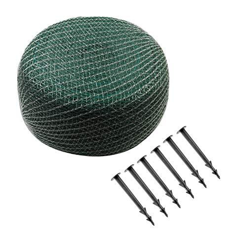 Meister bladbeschermingsnet - groen - 20 x 20 mm maaswijdte - inclusief grondankers - robuust weefsel - weer- en UV-bestendig/netafdekking voor tuinvijver & zwembad/vijvernet 3 x 2 m groen