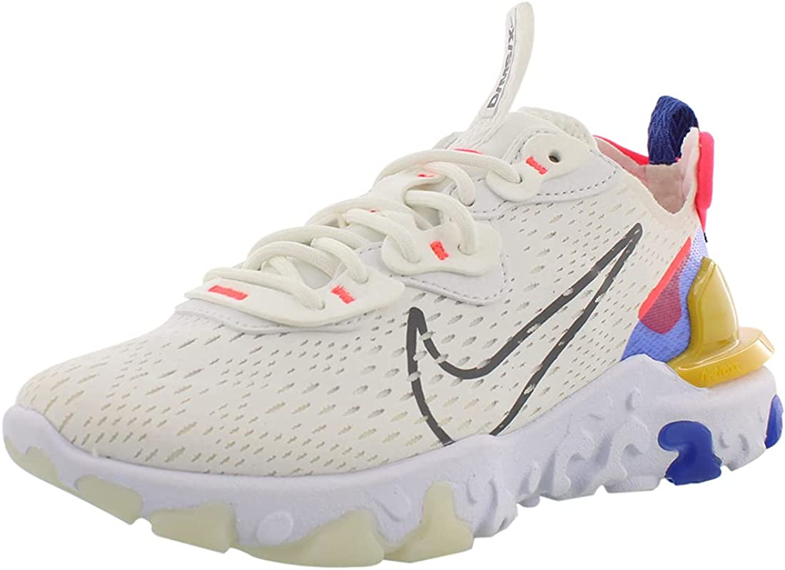 Nike Baskets Blanches Femme React Vision : Amazon.fr: Chaussures ...