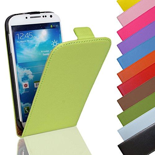 Eximmobile - Flip Case Handytasche für Sony Xperia Z5 Compact in Grün | Kunstledertasche Sony Xperia Z5 Compact Handyhülle | Schutzhülle aus Kunstleder | Cover Tasche | Etui Hülle in Kunstleder