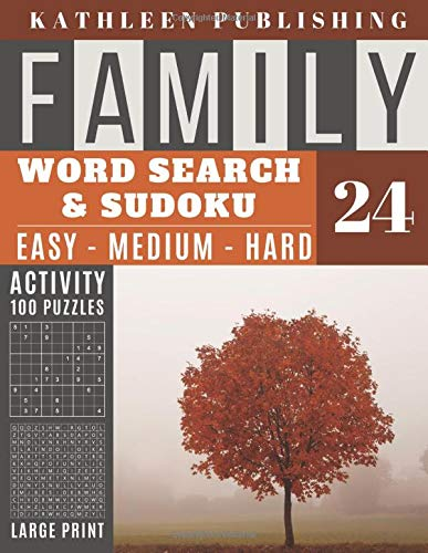Family Word Search and Sudoku Puzzles Large Print: word search puzzle books for adults large print | Sudoku - Easy - Medium and Hard for Beginner to ... | Made in USA Vol.24 (Family activity book)