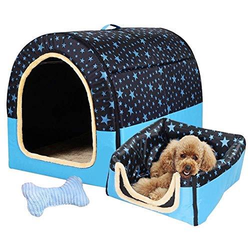 YUMUO 2 in 1 Haustierhaus Hundebett Großer Hundezwinger Winter Warm halten Waschbarer Hundezwinger Vier Jahreszeiten Hundehütte im Innenbereich 5 Abmessungen Optional (Farbe: Gypsophila, Größe: XL)