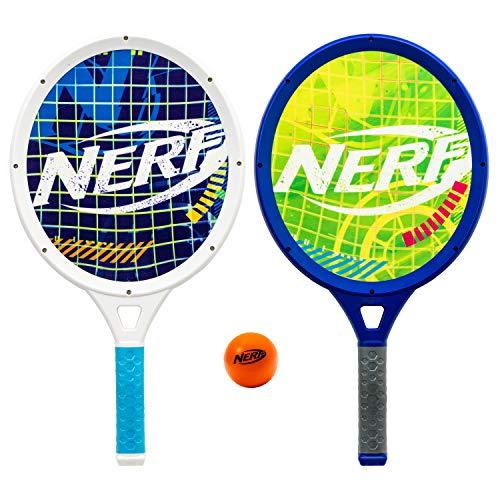 NERF Driveway Tennis Set for Kids - 2 Player Kids Tennis Set - Jumbo Rackets and Foam Tennis Ball - Indoor Tennis Set - (2) Rackets and Foam Ball Included
