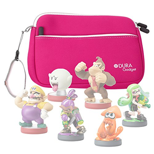 DURAGADGET Pink Neoprene Soft Cover - Ideal for Storing Your Nintendo Amiibo Figures (Wii U /3DS /Nintendo Switch)