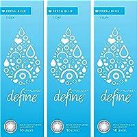 ワンデー アキュビュー ディファイン フレッシュシリーズ 【カラー】フレッシュブルー 【PWR】-3.25 30枚入 3箱