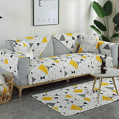 Jacquard Funda Para Sofá De La Esquina,Antideslizante Chaise Longue Funda Cubre Sofá Acolchado Todas Las Estaciones Decorativo Protección De Muebles En Corte Funda De Sofá-H-90x70cm(35x28inch)