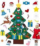 Arbol de Navidad de Fieltro, Árbol de Navidad DIY, Árbol de Navidad para Niños con 29 Unids Desmontable Adornos Navidad Decoración