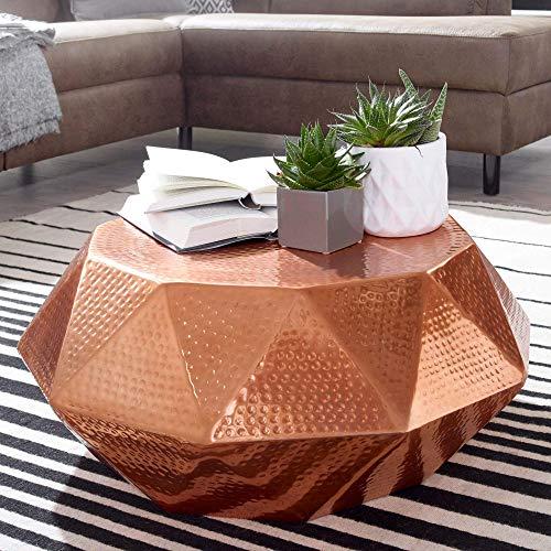 Wohnling Diamant salontafel, aluminium, koper, 73x28,5x73 cm