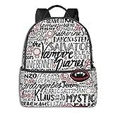 The Vampire Diaries Laptop Backpack Water Resistant Travel Bag, Durable Laptops Backpack for Women & Men College Bookbags