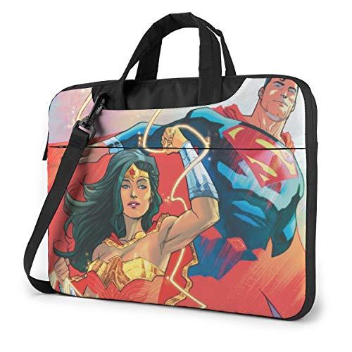 Super Man Wonder Woman Laptop Shoulder Messenger Bag Case Sleeve for 13 Inch 14 Inch Laptop Case Laptop Briefcase 15.6 Inch