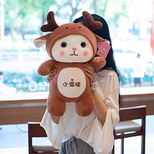 N / A Hot Cartoon Katze Kuscheltiere Plüschtiere Kawaii Weiche Puppe Dress up Giraffe Frosch Pinguin Dinosaurier Kinder Plüschpuppe Mädchen Geschenk 70cm