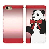 iPhone XS ベルトなし 手帳型 スマホケース スマホカバー bn238(A) ボーダー パンダ 熊猫 ぱんだ リボン アイフォンXS アイフォンテンS アイフォン10S スマートフォン スマートホン 携帯 ケース アイホンXS アイホンテンS アイホン10S 手帳 ダイアリー フリップ スマフォ カバー