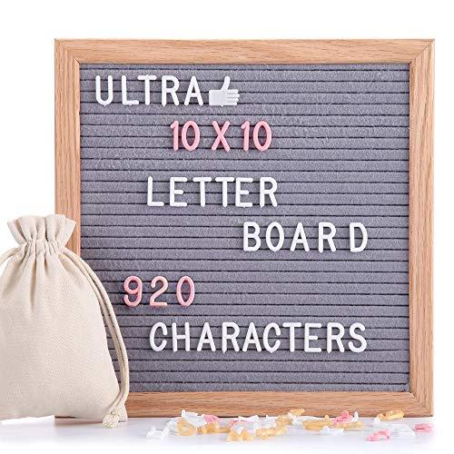 UltraGood-EU 25x25cm Filz Letter Board mit 920 Stück Buchstaben und Symbols