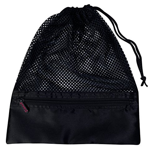 Dansbagz By Danshuz Women's Mesh Shoe Bags, Black, OS