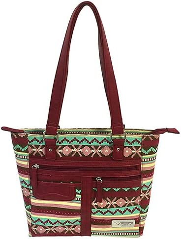 NC Star BWJ003 NcStar Vism Printed Charlotte Milwaukee Mall Mall Carry Concealed Tote Burgun
